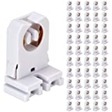 JESLED Non Shunted LED Tombstones - (Pack of 50) T8 Lamp Holder, UL Turn Type Tombstone Lampholder for T10 T12 LED Fluorescen
