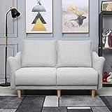 ソファ 2人、ソファー 2人掛け、快適な布芸ソファ 2人用 、堅固である&耐久性ソファ グレー、2人がけソファー幅140cm、美しい生活(blf Furniture)リビングルームの店舗アパートsofa (ライトグレー)