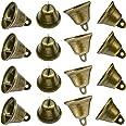 "Maydahui 35PCS Vintage Bronze Jingle Bells (1.7""X 1.5"") for Dog Doorbell & Potty Training, Housebreaking, Making Wind Chimes,"
