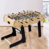 4FT Soccer Table Folding Foosball Tables Indoor Football Game Home Family Party Kids Birthday Gift