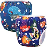 Storeofbaby Reusable Baby Swim Diapers Washable Cover for Swimmer 2 Pack
