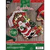Plaid Felt Stocking Kit, Multi-Colour, One