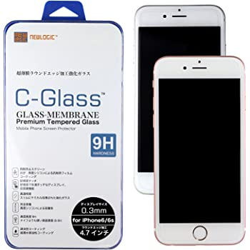 NEWLOGIC 【 iPhone6 / 6s 】 C-Glass 0.3mm 保護ガラス (硬度 9H) 感圧タッチ ( 3D touch ) 対応 液晶保護 ガラス フィルム