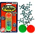 Vintage Toys Double Jax Retro 2 Hi-Bounce Balls & 16 Metal Jacks In/Outdoor Toy small