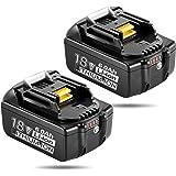 マキタ 18V バッテリー 互換 bl1860b マキタ18V互換バッテリー 6.0Ah 互換バッテリー 電動工具用バッテリー LED残量表示 BL1830 BL1840 BL1850 BL1860 リチウムイオン電池 2個セット PSE取得済み