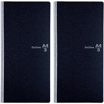 プラス メモ帳 ノート カ.クリエ A4×1/3 NO-604GC クロ 2冊パック 77-901×2