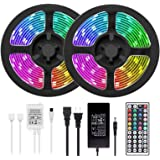 [49.2ft /15m] RGB LED Strip Lights Ultra-Long Color Changing Light Strip with Remote, 450LEDs Bright LED Lights, DIY Color Op