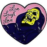 Live, Laugh, Love - Skeleton - Enamel Pin