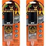 Gorilla 2 Part Epoxy, 5 Minute Set.85 Ounce Syringe, Clear, (Pack of 2) - 4200130