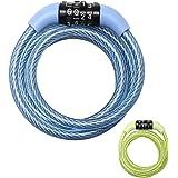 Master Lock Fixed Combination Steel Cable Lock 8143EURDPROCOL 1.2m x 8mm - Blue Green