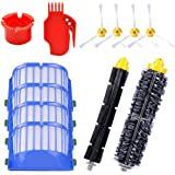 KEEPOW Replacement Parts for iRobot Roomba 600 Series 620 630 650 652 660 680 690 Robotic Vacuum Cleaner (4 Side Brushes,4 He