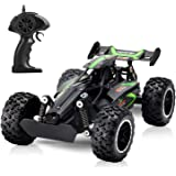 Tobeape G03063R 1:18 Scale 2.4Ghz Remote Control Car, 15-20 km/h High Speed RC Car 2 Lithium Rechargeable Batteries, Electric