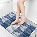 youta Front Door Rugs Shaggy Non-Slip Bath Rug Absorbent Floor Foot Mat Microfiber Striped Pad Shower Rug 24x36 inch, Plant V