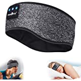 Sleep Headphones Bluetooth Sports Headband, Wireless Music Headband Headphones, IPX6 Waterproof Headphones with Mic for Sleep