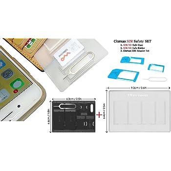 Cismax HD【 落下防止機能付Nano SIM MicroSIM 変換アダプター+クレカより薄い SIM カード ケース ホルダー + SIM カード収納ケース ブラック等の3品セット 】落下防止機能付Nano SIM MicroSIM 変換アダプター 4点セット ブルー iPhone7/7P/6S/6/6plus/5S/5C/4S/4/3GS/3用STD xperia スマホ 拡張 便利 micro 全部入り 交換 代替 Ciscle (Sky Blue あかるい青色) スキマに入る SIM 整理 保管 合計3品セット Cisブルー(3品セット 青)