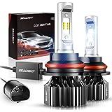 9007/HB5 LED Headlight Bulbs, Dual High/Low Beam Bulbs, DOT Approved SEALIGHT X1 Series, 6000 Lumen 6000K Xenon White (2 Pack