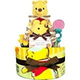KanonBabys おむつケーキ 男の子 女の子 プーさん 出産祝い 2段 Sサイズ 3001