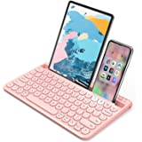 Bluetooth Keyboard, Jelly Comb Multi-Device Universal Bluetooth Rechargeable Keyboard with Integrated Stand for iPad Tablet S