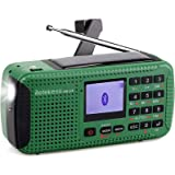 Retekess HR-11S Emergency Radio Solar Hand Crank Radio AM FM Shortwave Radio Dynamo Wireless MP3 Player USB Charger Cable Dig