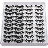 20 Pairs/set Beauty Criss-cross Handmade Eye Makeup Tools Thick Long False Eyelashes 3D Faux Mink Wispies Fluffies(201)