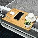 JJDPARTS Bamboo Bedside Shelf, Easy Assemble Bunk Bed Shelf, Bedside Shelf for Bed College Dorm Room with a Cable Manager, Ve