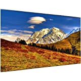 Coolux Outdoor Projector Screen - Foldable Portable Outdoor Front Movie Screen (150inch)