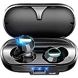 【Bluetooth5.0 3500mAh】 Bluetooth イヤホン 140時間連続駆動 完全ワイヤレス イヤホン 防水 Hi-Fi高音質 自動ペアリング 自動ON/OFF 3Dステレオサウンド ブルートゥース イヤホン AAC対応 両耳 左右