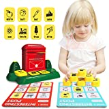 Nueplay Kids Toys Board Game Educational Learning Toy Mailbox Matching Word Card STEM Toys Word Learning Game Set Gifts Prese