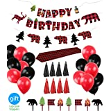 Lumberjack Party Supplies Birthday Party Decorations and Favors Set for Baby Shower, Birthday Party Decor