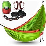 ETROL Hammock Camping Double LightweightParachute Portable Hammocksfor Travel, Indoor, Outdoor Backpacking, Beach Includes