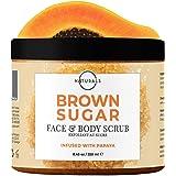 O Naturals Exfoliating Boost Brightening & Lightening Skin Papaya Brown Sugar Scrub for Face & Body Anti Cellulite Remove Dar