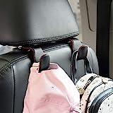 Car Hooks Universal Car Vehicle Back Seat Headrest Hanger Holder Hook Microfiber Leather & Stainless Steel for Bag Purse Clot