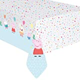 """Peppa Pig Party Table Cover Plastic 54"""" x 96"""" 1ct"""