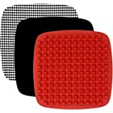 XXL Air Fryer Accessories Compatible with Ninja, Chefman, GoWise, Instant Pot, Paula Deen, Power Airfryer Oven, Cosori, Tidyl