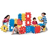 Little Tikes 642173 Big Waffle Block Set - 18 pieces Blue/Red/Yellow