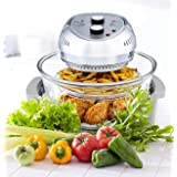 Big Boss Oil-less Air Fryer, 16 Quart, 1300W, Easy Operation with Built in Timer, Dishwasher Safe, Includes 50+ Recipe Book -