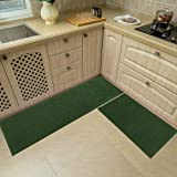 48x20 Inch/30X20 Inch Kitchen Rug Mats Made of 100% Polypropylene 2 Pieces Soft Kitchen Mat Specialized in Anti Slippery and