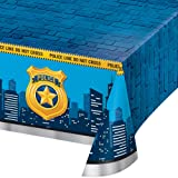 Creative Converting All Over Print Plastic Tablecover, Blue