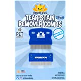 Tear Eye Stain Remover Combs | Set of 2 | Clean and Remove Residue, Dirt, Buildup Around Pet Eyes | Best for Dogs & Cats Fur