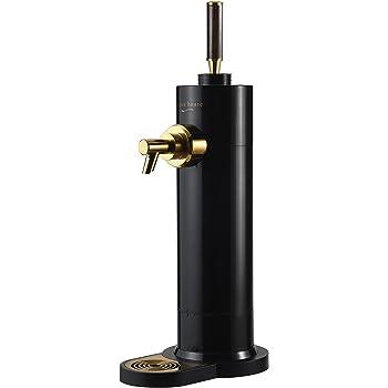 グリーンハウス ビール サーバー スタンド 型 超音波式 保冷剤 1セット付属 ハンドル色 木目 本体色 ブラック 抽出スピード約2倍 (当社比) GH-BEERK-BK