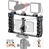 Neewer Aluminum Smartphone Video Rig, Filmmaking Case, Phone Video Stabilizer Grip Tripod Mount for Videomaker Film-Maker Vid