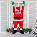 TOLOCO Hanging Santa Claus Christmas Decorations Suitable for Gutters, Christmas Outdoor Decor Props on The Roof
