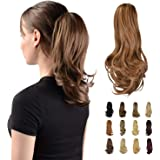 """(Light Auburn) - Sofeiyan 13"""" Ponytail Extension Long Curly Ponytail Clip in Claw Hair Extension Natural Looking Synthetic Ha"""