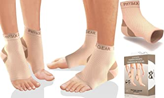 Plantar Fasciitis Socks with Arch Support for Men & Women - Best 24/7 Compression Socks Foot Sleeve for Aching Feet &...