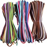 カラフル 全60色 スエード 革紐 革ひも かわひも レザー 紐 レザークラフト ネックレス用 アクセサリーパーツ (1m60本)