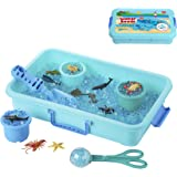 Water Beads Play Set - Sensory Toys for Kids with 16 oz of Water Beads, Sea Animals, Water Beads Tools - 20 Pieces Ocean Toy