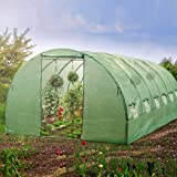 Levede Greenhouse Plastic Cover Film Walk in Green House Garden Storage Tunnel
