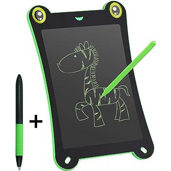 NEWYES 電子パッド 電子メモ帳 手書き 落書き お絵かき 計算 単語帳 消える けろけろボード 子供会 ギフト 8.5インチ (緑)