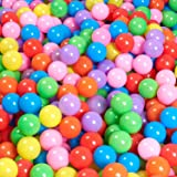 MODEREVE 100 Pack Balls for Ball Tent, BPA Free Colorful Plastic Balls Baby Play Balls for Ball Pit, Bounce House, Baby Pool
