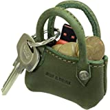 Hide & Drink, Leather Tiny Lady Bag/Key Ring/Holder/Coin Pouch/Case/Mini Bag/Accessories, Handmade Includes 101 Year Warranty